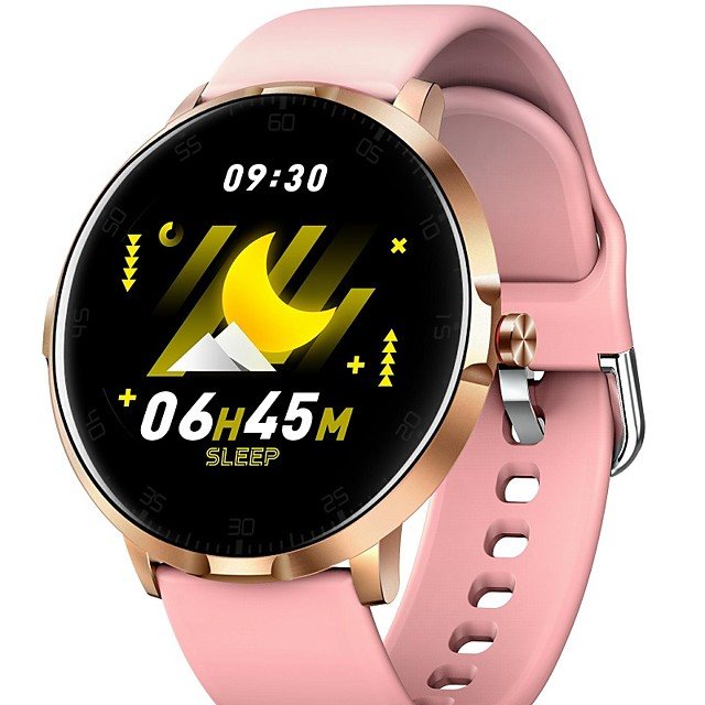 Ckyrin W1 B Men Women Smartwatch Android iOS Bluetooth Waterproof Touch Screen Heart Rate Monitor Blood Pressure Measurement Sports ECG+PPG Timer Stopwatch Pedometer Call Reminder
