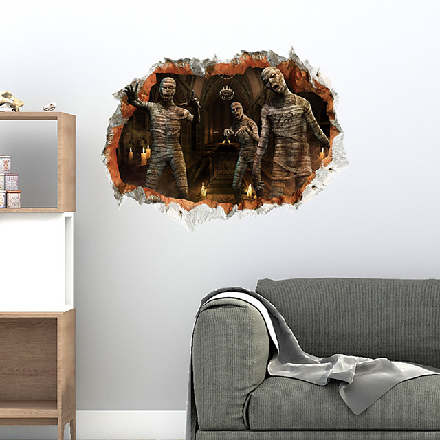 3D Halloween Zombies Wall Stickers Decorative Wall Stickers, PVC Home Decoration Wall Decal Wall Decoration / Removable