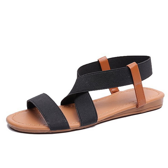 Women's Sandals Roman Shoes / Gladiator Sandals Summer Flat Heel Open Toe Daily PU Black / Blue / Pink