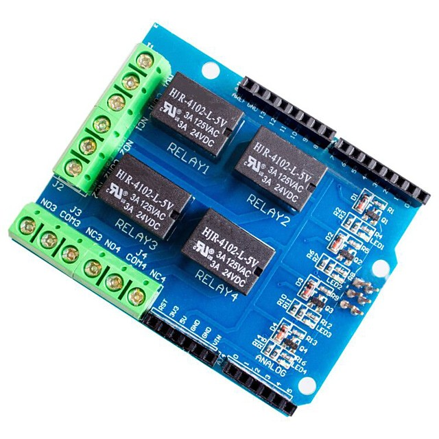 4 Channel 5v Relay Shield Module Four Channel Relay Control Board Relay Expansion Board for Arduino UNO R3 Mega 2560