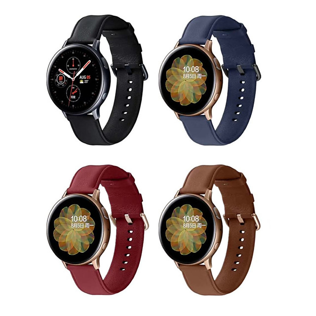 Watch Band for Samsung Galaxy Watch 42mm / Samsung Galaxy Watch Active / Samsung Galaxy Watch Active 2 Samsung Galaxy Modern Buckle / Business Band Quilted PU Leather Wrist Strap