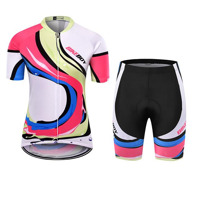 BIKEBOY Women's Short Sleeve Cycling Jersey Cycling Shorts Fuchsia Bike Quick Dry Sports Mountain Bike MTB Road Bike Cycling Clothing Apparel / Stretchy