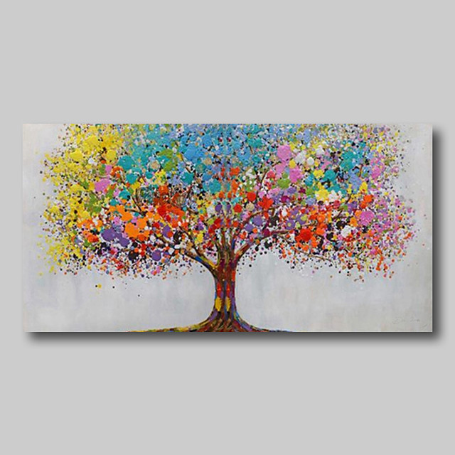 Oil Painting Hand Painted Abstract Abstract Landscape Comtemporary Modern Large Rolled Canvas Life Trees Rolled Without Frame