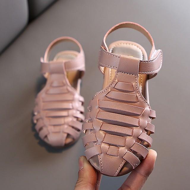 Girls' Sandals Comfort PU Little Kids(4-7ys) Black / Pink / Beige Summer