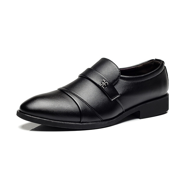 Men's Summer / Fall Daily Office & Career Oxfords Faux Leather Black