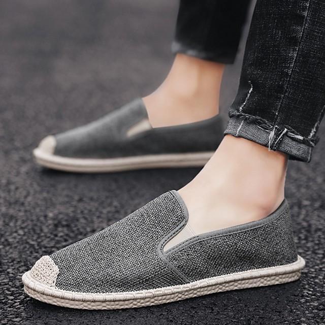 Men's Summer Daily Loafers & Slip-Ons Mesh White / Khaki / Gray