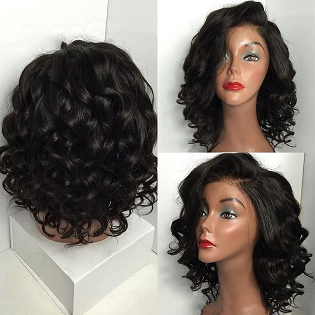 Synthetic Wig Curly Asymmetrical Wig Long Wine Red Brown Black Synthetic Hair 18 inch Women's Party Exquisite Romantic Black Brown