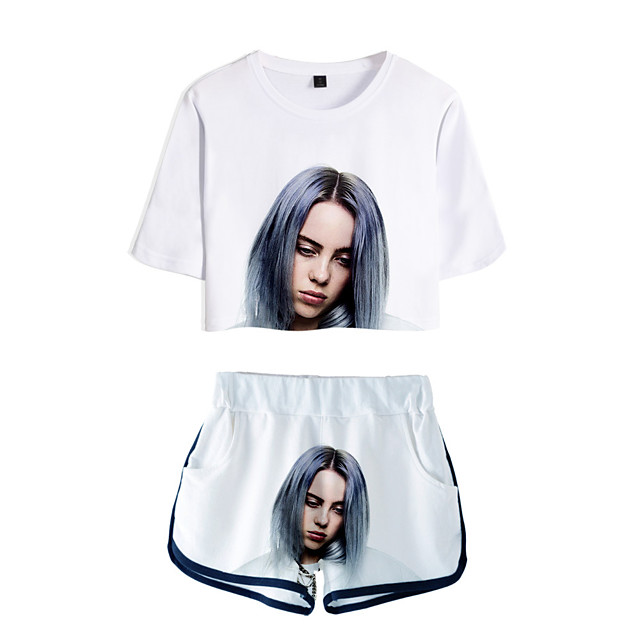 Inspired By Cosplay Billie Eilish Pants Cosplay Costume Pure Cotton Print Printing Shorts For Women S T Shirt 8086835 2020 24 14