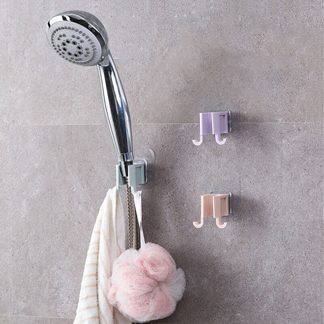 1 pcs Wall Gel Mounted Shower Head Stand Bracket Holder Hand Held Bathroom Fitting Portable Accessories