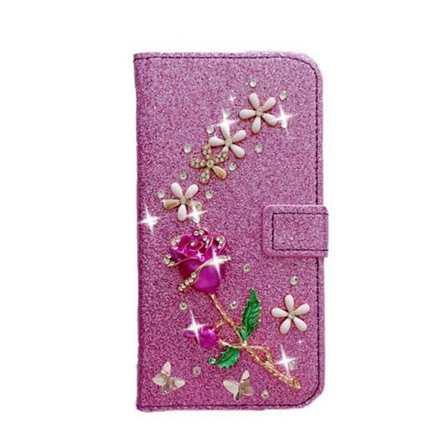 Case For Samsung Galaxy S20 Ultra /S20 Plus/S10 Plus Wallet / Card Holder / with Stand Full Body Cases Glitter Shine Roses PU Leather Case For Samsung S9 Plus /S8 Plus /S7 Edge/Note 10 Pro /A51/A71 No