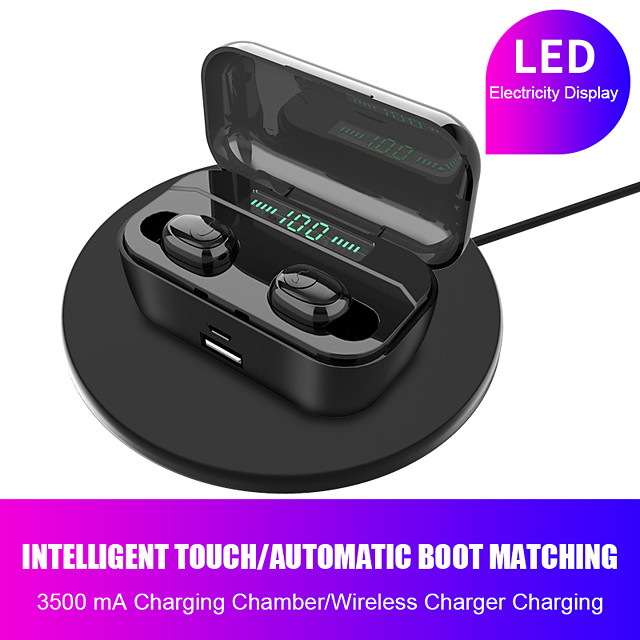 LITBest G6S TWS Earbuds Bluetooth5.0 Earphones Wireless Music Headphone Game Earphone Waterproof IPX7 LED Digital Display For Sport Fitness