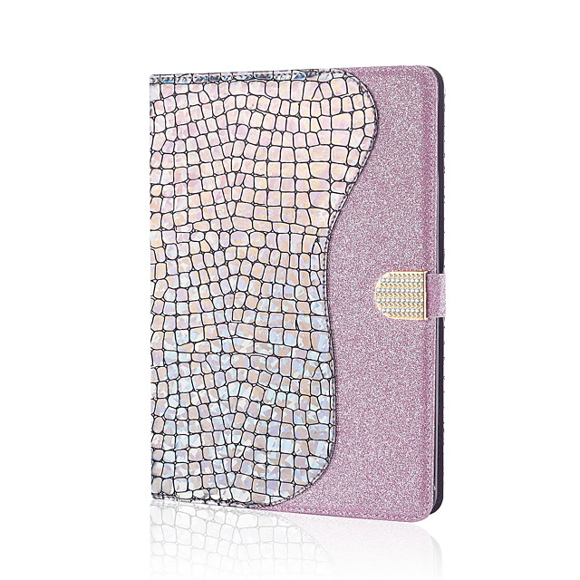 Case For Apple iPad Mini 1 2 3 4 5 Card Holder Magnetic Glitter Shine Full Body Cases Solid Colored Glitter Shine PU Leather