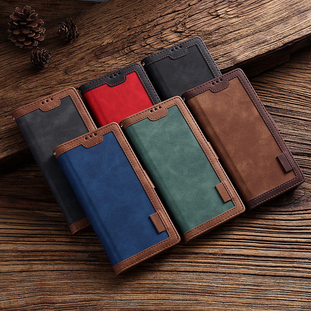 Case For Samsung Galaxy A40 A50 A50S A70 A01 A11 A21 A41 A51 A71 A70E A81 A91 A21S A51 5G A71 5G A31 NOTE20 Card Holder Flip Magnetic Full Body Cases Solid Colored PU Leather TPU Shockproof
