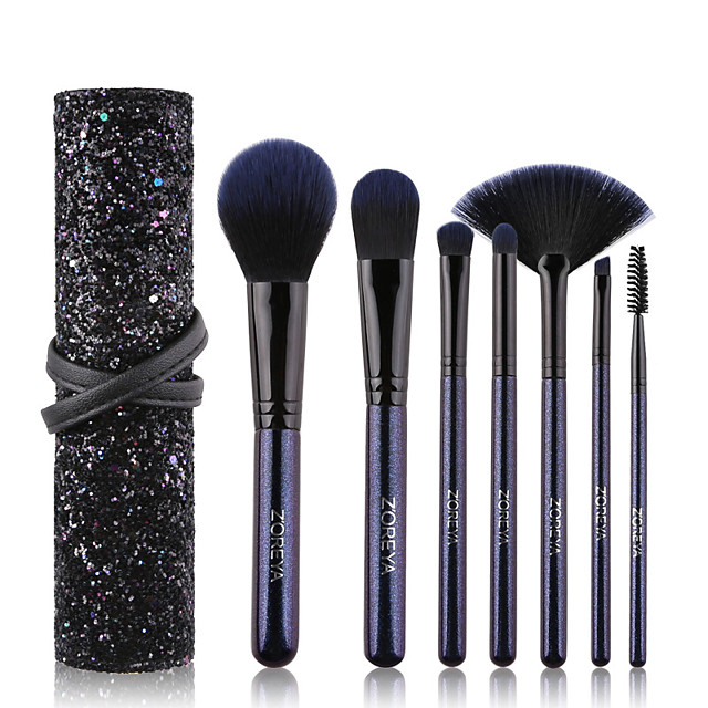 Professional Makeup Brushes 7 PCS Soft Adorable Artificial Fibre Brush Wooden / Bamboo for Foundation Brush Lash Brush Eyebrow Brush Eyeshadow Brush Makeup Brush Set