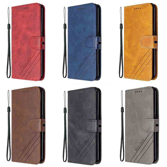 Case For Sony Xperia 1 II Xperia 10 II Wallet Card Holder with Stand Full Body Cases Solid Colored PU Leather TPU