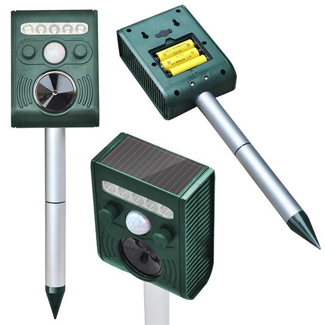 Garden Ultrasonic PIR Sensor Solar Animal Dispeller Strong Flashlight Dog Repeller Waterproof Outdoor Use Pest Control