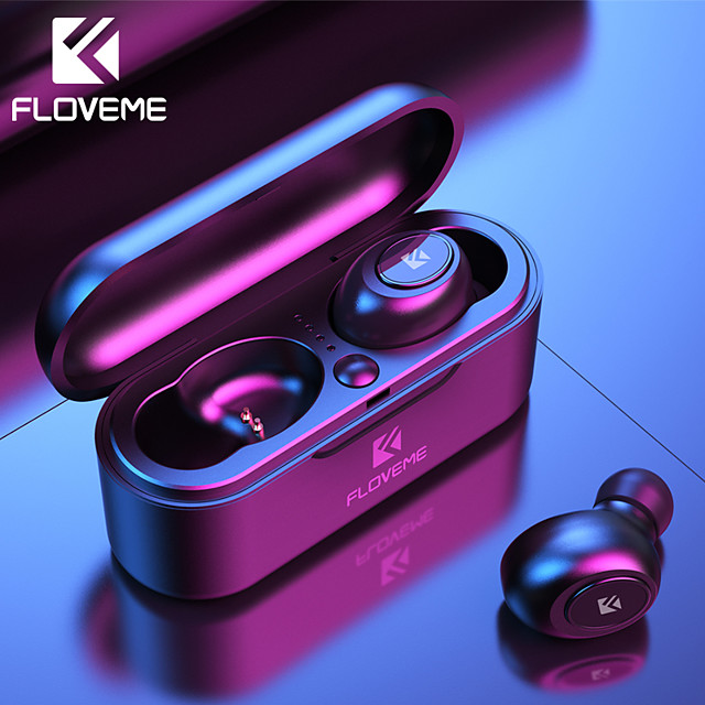 FLOVEME Mini TWS Wireless Headphones Bluetooth 5.0 Earphone Sport Headset 3D Stereo Sound with Micro Charging Box
