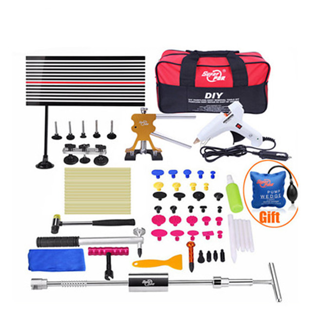 Super PDR-G-410 Tools Kit For Car Paintless Dent Repair Tool Hail Dent Removal Kit Auto Dent Pullers Suction Cup Dent Pulling Bridge