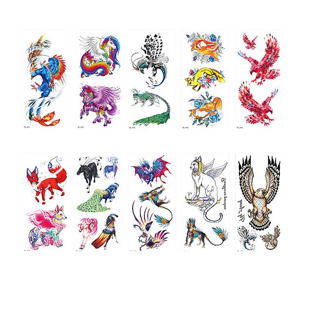 6 Sheets Randomly Tattoo Designs Temporary Tattoos Sketch Tattoo Sticker Butterfly Flower Child Animal Character Environmental Protection TL111-TL120