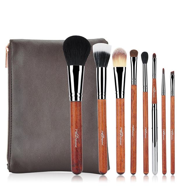 Professional Makeup Brushes 8pcs Professional Soft Full Coverage Artificial Fibre Brush Wooden / Bamboo for Foundation Brush Makeup Brush Lip Brush Eyebrow Brush Eyeshadow Brush