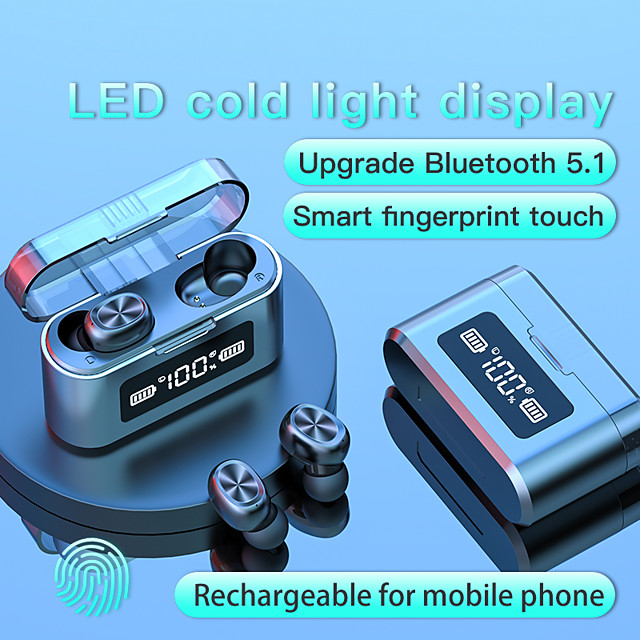 LITBest 279 TWS True Wireless Earbuds Bluetooth5.0 Stereo with Microphone with Charging Box Auto Pairing LED Power Display for Travel Entertainment