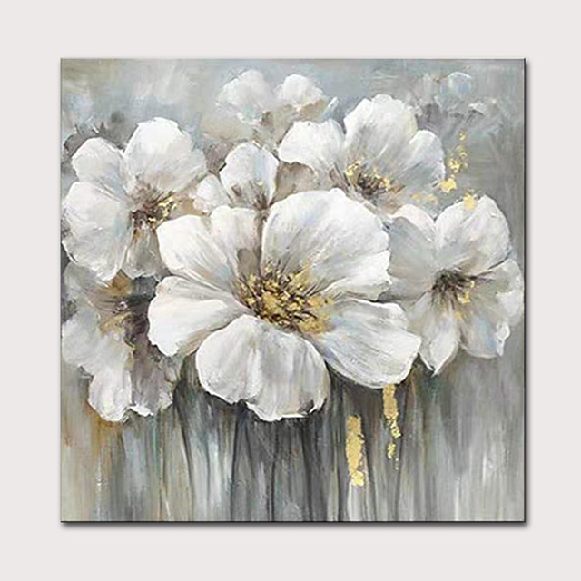 Mintura Large Size Hand Painted Abstract Flowers Oil Painting on Canvas Modern Pop Art Wall Pictures For Home Decoration No Framed Rolled Without Frame