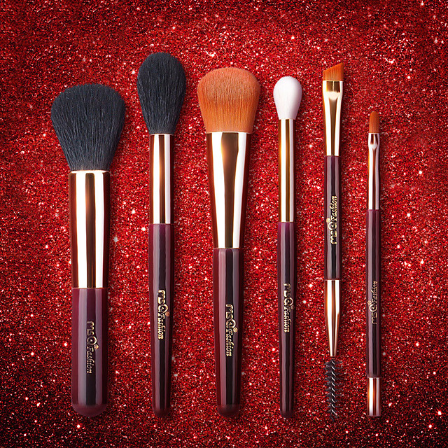 Professional Makeup Brushes 6pcs Professional Soft Full Coverage Wooden / Bamboo for Blush Brush Foundation Brush Makeup Brush Lip Brush Eyebrow Brush