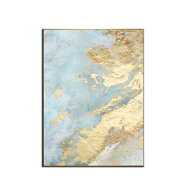 100% Hand painted By Professional Artist 2020 Handmade Abstract Landscape Oil Painting On Canvas Living Room Home Decor Gold Art Rolled Without Frame