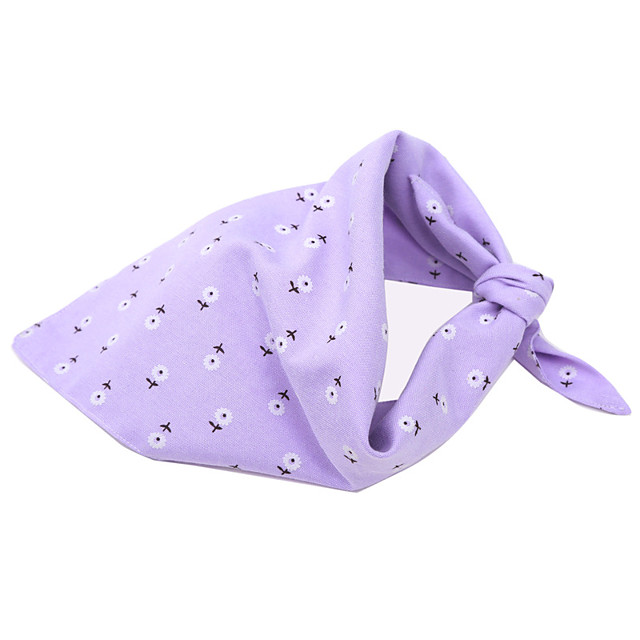 Dog Cat Bandanas & Hats Dog Bandana Dog Bibs Scarf Flower Casual / Sporty Cute Sports Casual / Daily Dog Clothes Adjustable Purple Pink Costume Cotton S M