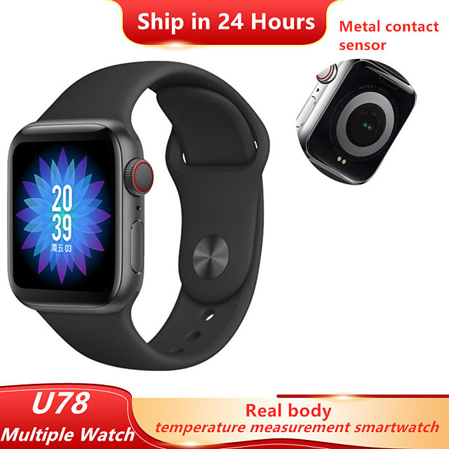 U78 SmartWatch Series 5 Real Temperature measurement Heart rate IP67 Waterproof Smart watch For IOS Android Watch