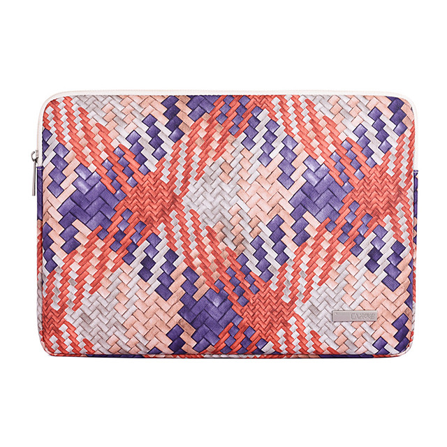 11.6 Inch Laptop 12 Inch 13.3 Inch 14 Inch 15.6 Inch Laptop Sleeve PU Leather Checkered Gingham Printing Unisex Waterproof Shockproof