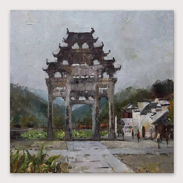 IARTS Hand Painted Scenic spot Oil Painting with Stretched Frame For Home Decoration With Stretched Frame