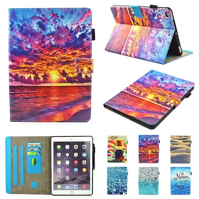 Case For Apple iPad Air  iPad (2018)  iPad Air 2 iPad(2017) iPad Pro9.7 iPad5 6  8 9  360 Rotation  Shockproof  Magnetic Full Body Cases Butterfly  Scenery  Pandad PU Leather  TPU