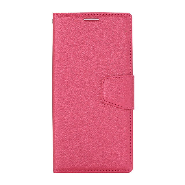 Case For Sony XZ1 Card Holder Flip Magnetic Full Body Cases Solid Colored PU Leather textured