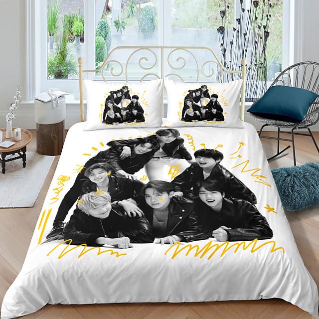 s Single//Doule UK 2020 BTS 3D Bedding Set Duvet Cover /& Pillowcase