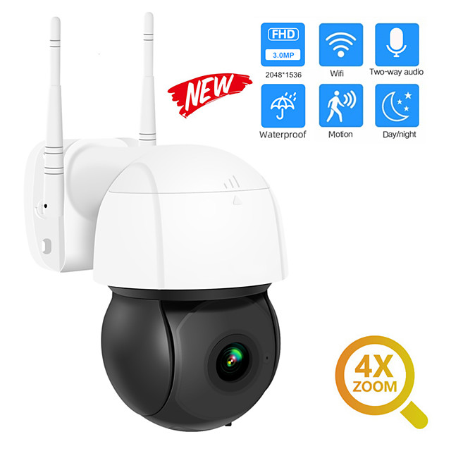 DIDSeth 3MP Wifi IP Camera PTZ 4X Digital Zoom Auto Tracking ONVIF Security CCTV Camera Audio AI Human Detection Outdoor Cam