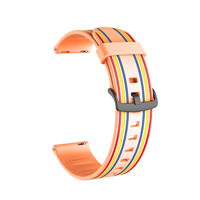 20mm 22mm Silicone Sport Strap Striped Rubber Replacement Band for Huawei Watch GT2 42MM/46MM/Honor MagicWatch 2 42MM/46MM /Watch2/Watch2 Pro