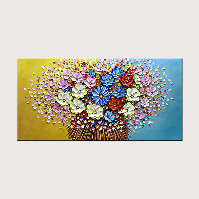 Oil Painting Hand Painted - Pop Art Abstract Modern Classic Rolled Canvas