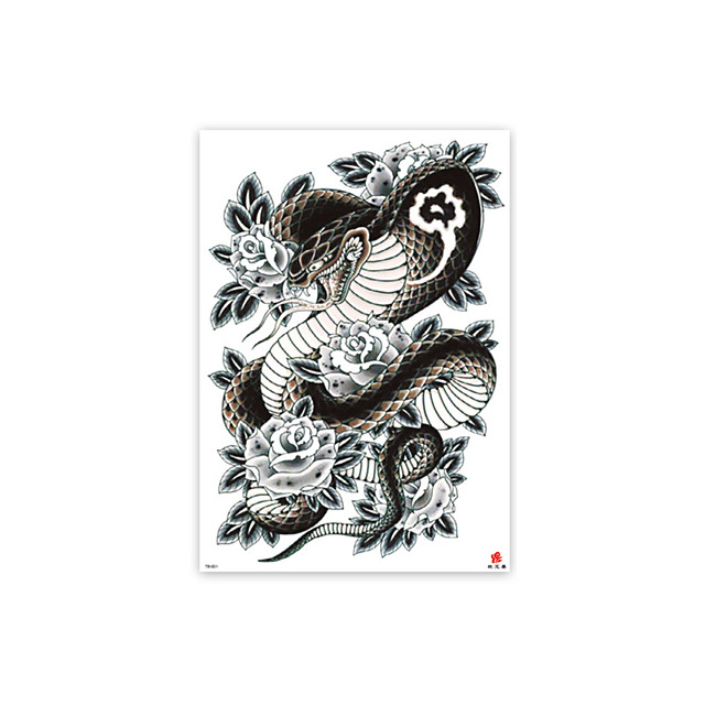 1 pcs tattoo designs Temporary Tattoos Oversized full back tattoo stickers full back waterproof environmental protection stickers TB01-010