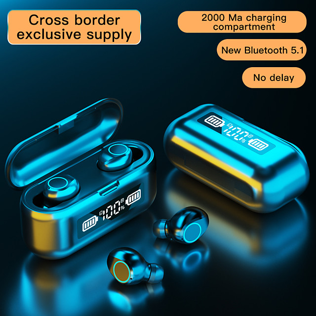 LITBest F9-46 TWS True Wireless Earbuds Bluetooth5.0 with Charging Box Auto Pairing Mobile Power for Smartphones LED Power Display for Office Business