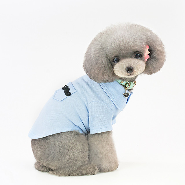 Dog Shirt / T-Shirt Pajamas Solid Colored Casual / Sporty Cute Casual / Daily Festival Dog Clothes Warm Blue Pink Costume Cotton S M L XL XXL