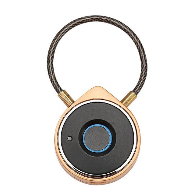 USB Rechargeable Smart Bluetooth Fingerprint Lock Anti-Theft Lock Security Door Luggage Padlock