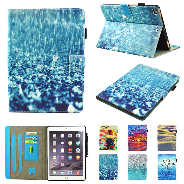 Case For Apple iPad Pro 10.5  Ipad air3 10.5' 2019  360 Rotation Shockproof  Magnetic Full Body Cases Butterfly  Scenery  Panda PU Leather   TPU