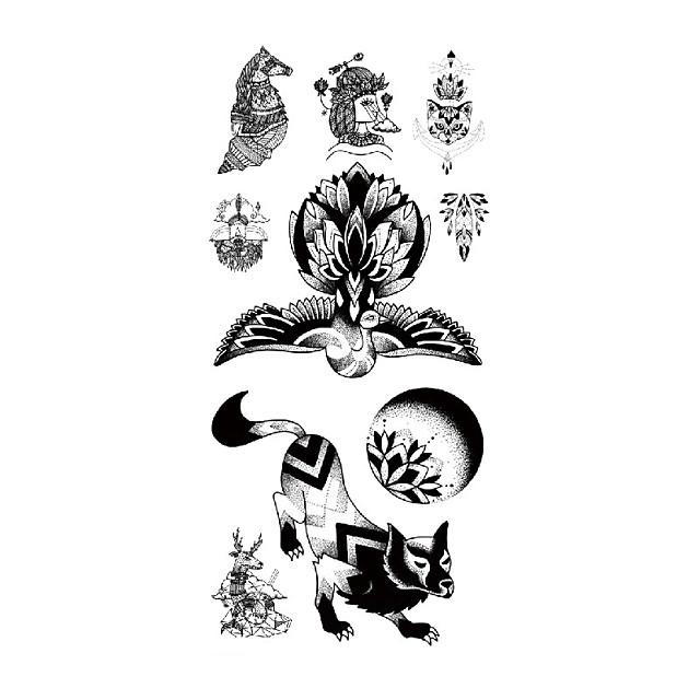 TL081-090 1 Pcs Tattoo Designs Temporary Tattoos Eco-friendly / Water Resistant / New Design brachium / Chest Paper Tattoo Stickers