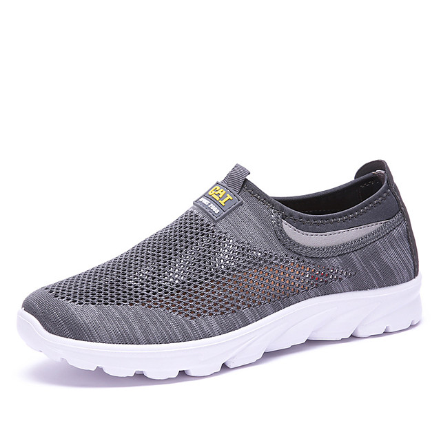 Men's Summer / Fall Casual / Preppy Daily Outdoor Loafers & Slip-Ons Mesh Breathable Non-slipping Black / Gray