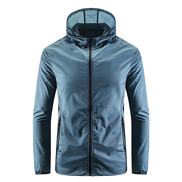 Men's Hiking Jacket Hiking Windbreaker Summer Outdoor Windproof Sunscreen Breathable Quick Dry Jacket Top Camping / Hiking Fishing Climbing Dark Grey / White / Blue / Grey / Light Blue
