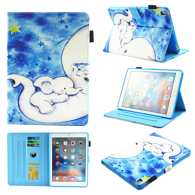 Case For Apple iPad Air  iPad (2018)  iPad Air 2 iPad(2017) iPad Pro9.7 iPad5 6 7 8 9  360 Rotation  Shockproof  Magnetic Full Body Cases sky  Tree  Panda PU Leather  TPU