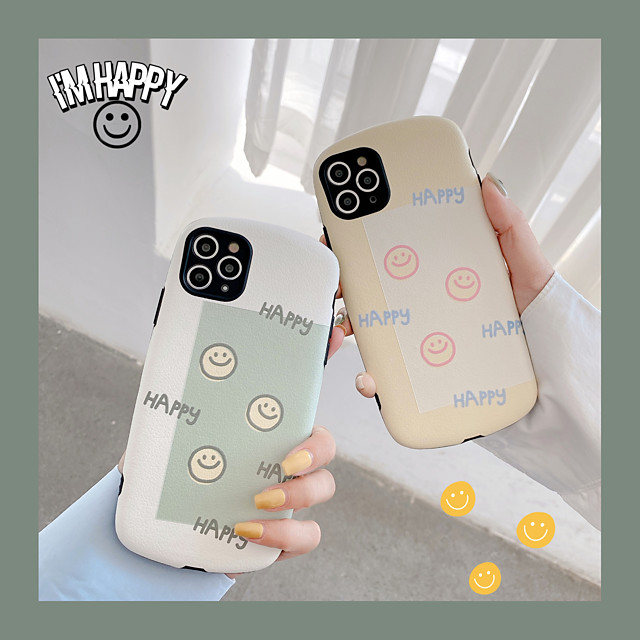 Smiley Pattern TPU Case For Apple iPhone 11 Pro Max 8 Plus 7 Plus 6 Plus Max Back Cover