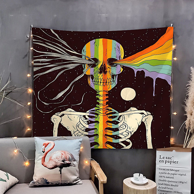 Home Living Tapestry Wall Hanging Tapestries Wall Blanket Wall Art Wall Decor Skull Tapestry Wall Decor