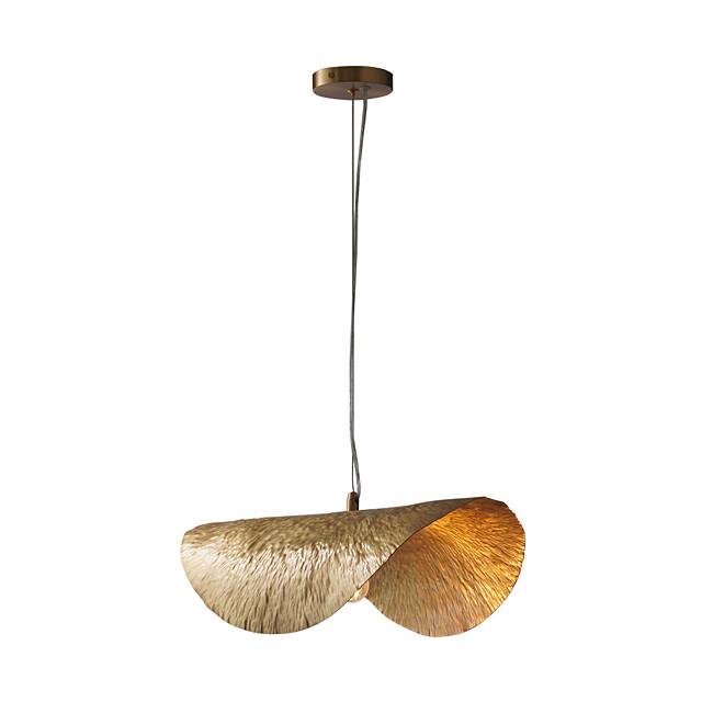 Artistic Nordic Style Pendant Light Copper Lighting for Living Dinning Bedroom Hotel Office Room E12/E14 Bulb not included